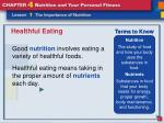healthful eating