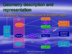 geometry description and representation