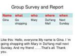 group survey and report