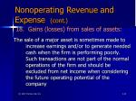 nonoperating revenue and expense cont