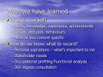 what we have learned3