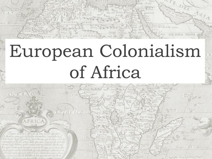 european colonialism of africa n.
