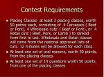 contest requirements