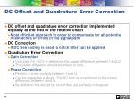 dc offset and quadrature error correction