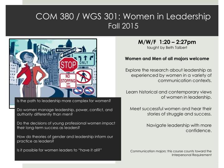 com 380 wgs 301 women in leadership fall 2015 n.