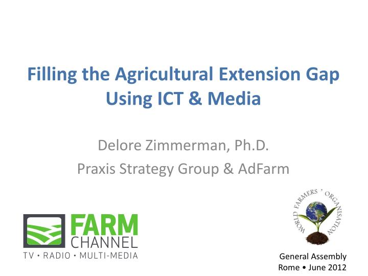 filling the agricultural extension gap using ict media n.