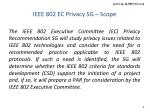 ieee 802 ec privacy sg scope