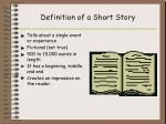definition of a short story