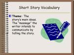 short story vocabulary6