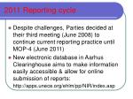 2011 reporting cycle