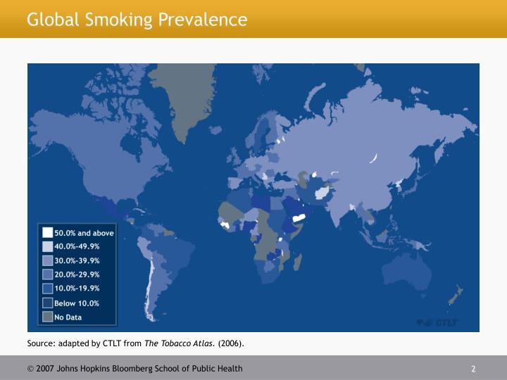 Global smoking prevalence