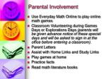 parental involvement
