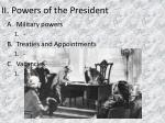 ii powers of the president