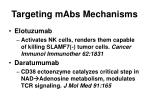 targeting mabs mechanisms