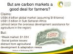 but are carbon markets a good deal for farmers