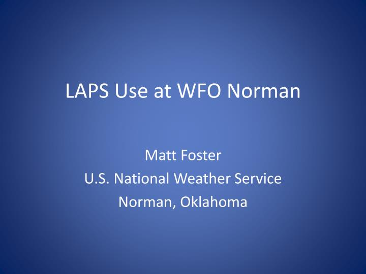 laps use at wfo norman n.