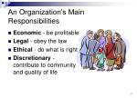 an organization s main responsibilities