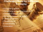 challenges faced by the indian economy