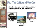 5 b the culture of the car