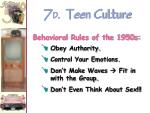 7 d teen culture