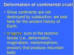 deformation of continental crust