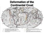 deformation of the continental crust