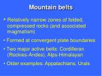 mountain belts