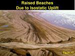 raised beaches due to isostatic uplift