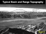 typical basin and range topography