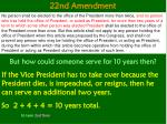 22nd amendment1