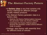 the abstract factory pattern