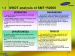 swot analysis of smt r2000