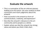 evaluate the artwork