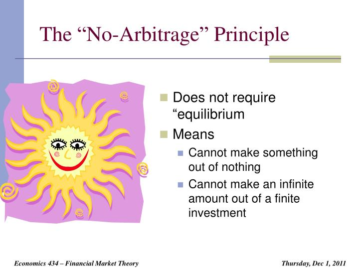 The no arbitrage principle