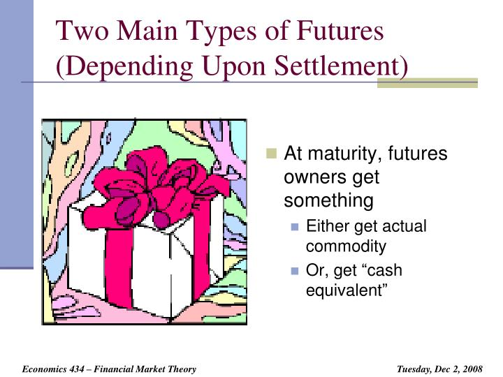 Two Main Types of Futures