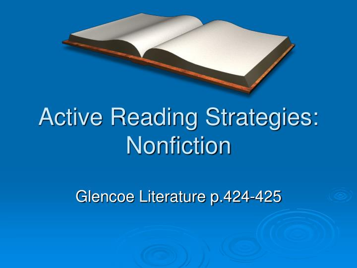 active reading strategies nonfiction n.