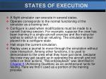 states of execution