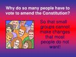 why do so many people have to vote to amend the constitution