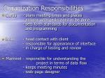 organization responsibilities