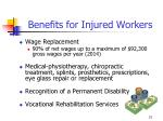 benefits for injured workers