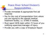 peace river school division s responsibilities