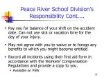 peace river school division s responsibility cont