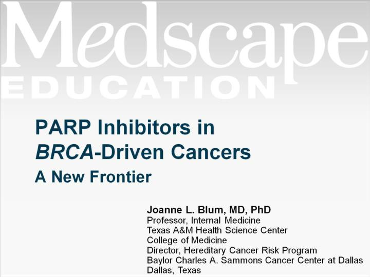 parp inhibitors in brca driven cancers n.