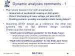 dynamic analyses comments 1