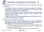 dynamic analyses comments 2