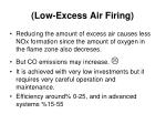 low excess air firing