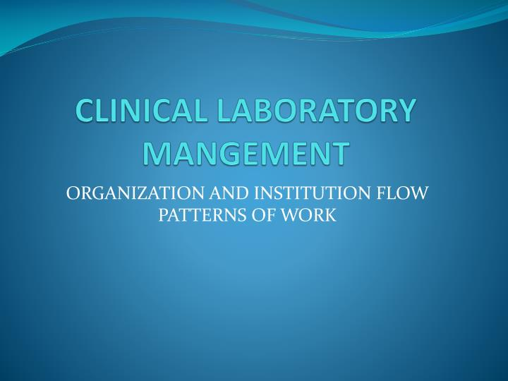organization and institution flow patterns of work n.