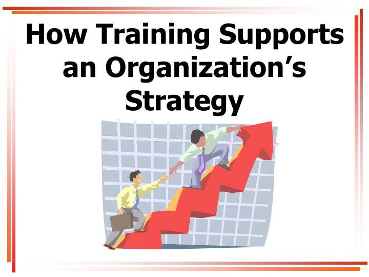 how training supports an organization s strategy n.