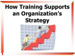 how training supports an organization s strategy