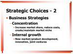 strategic choices 2